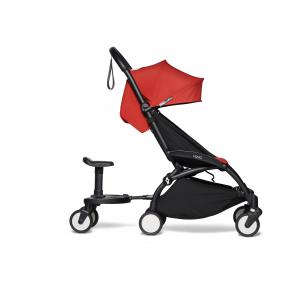 Babyzen - BU496 - Poussette YOYO² 6+ Rouge, planche à roulettes - cadre noir (422176)