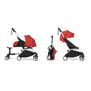 Babyzen - BU505 - Poussette YOYO² 0+ 6+ Rouge, planche à roulettes - cadre blanc (422194)