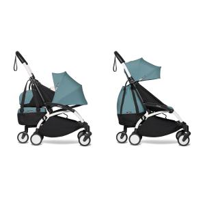Babyzen - BU553 - Poussette 2en1 transportable en avion avec Yoyo+ shopping bag aqua blanc 0+ 6+ (422290)