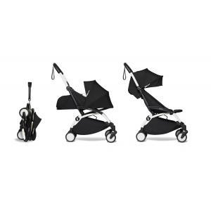 Babyzen - BU575 - Poussette maniable et compacte YOYO2 Babyzen noir et repose-pieds blanc 0+ 6+ (422334)