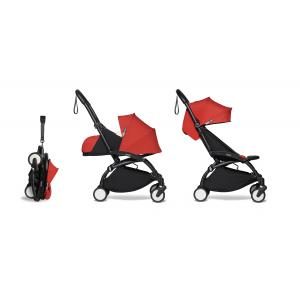 Babyzen - BU586 - Poussette maniable YOYO2 rouge avec repose-pieds noir 0+ 2019 et 6+ (422356)