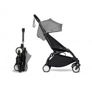 Babyzen - BU268 - Poussette YOYO² cadre noir 6+ pack couleur gris (422404)