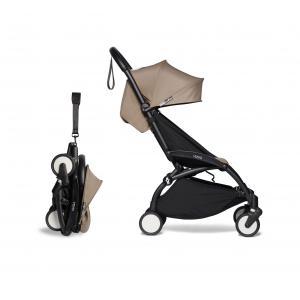 Babyzen - BU272 - Poussette YOYO² cadre noir 6+ pack couleur taupe (422412)