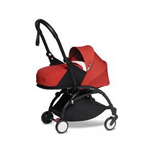 Babyzen - BU280 - Poussette YOYO2 naissance confortable rouge cadre noir 0+ (422428)