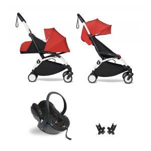 Babyzen - BU307 - Pack YOYO2 dès la naissance rouge avec siège auto iZi Go Modular - blanc 0+ 6+ (422482)