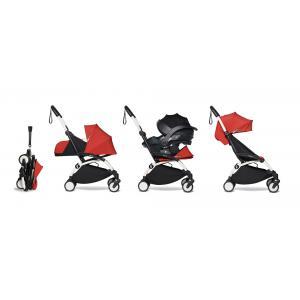 Babyzen - BU307 - Pack YOYO2 dès la naissance rouge avec siège auto iZi Go Modular - blanc 0+ 2019 et 6+ (422482)