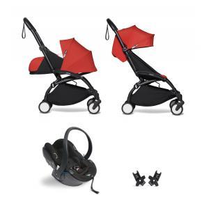 Babyzen - BU316 - Poussette YOYO² 0+ 6+ Rouge, siège auto - cadre noir (422500)