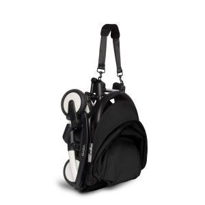 Babyzen - BU323 - Poussette YOYO² 6+ Noir, siège auto - cadre blanc (422514)