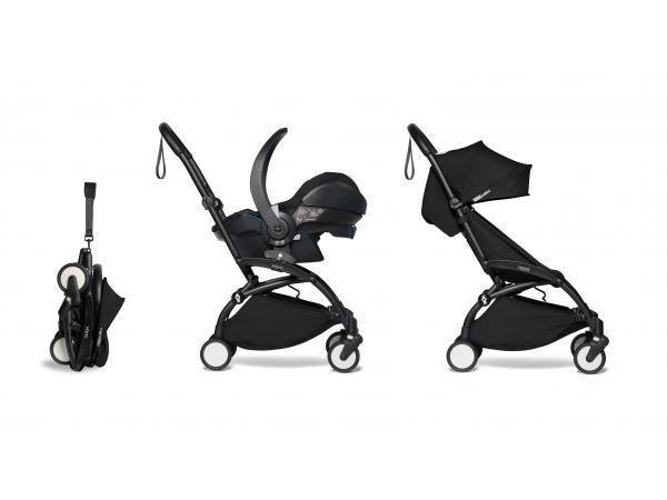 Yoyo2 poussette pratique et légère noir avec siège auto bébé izi go modular - noir 6+