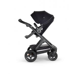 Stokke - 562201 - Stokke® Trailz™ noir avec guidon et garde corps en simili cuir noir Noir (422804)