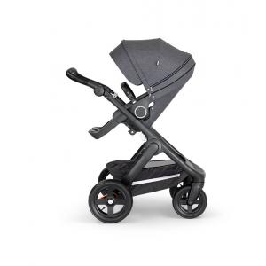 Stokke - 562202 - Stokke® Trailz™ noir avec guidon et garde corps en simili cuir noir Noir Melange (422806)