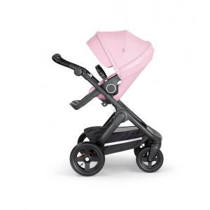 Stokke - 562204 - Stokke® Trailz™ noir avec guidon et garde corps en simili cuir noir Lotus Pink (422810)