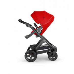 Stokke - 562205 - Stokke® Trailz™ noir avec guidon et garde corps en simili cuir noir Rouge (422812)