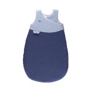 Candide - 105283 - Douillette naissance 72 cm chaude jersey matelassé/lange bleu (422884)