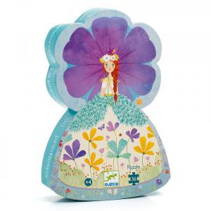 Djeco - DJ07238 - Puzzle silhouettes La princesse du printemps - 36 pièces (423152)
