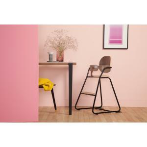 Charlie crane - TIBUWBLACK - Pack chaise haute TIBU noir-noyer et baby set (423688)