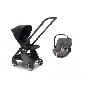Bugaboo - BU298 - Poussette Ant avec siège auto et adaptateur (noir, noir) (423910)