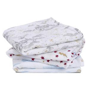 Aden and Anais - AMSC30002HP - Pack de 3 musy-langes en mousseline de coton collection Harry Potter™ (423954)