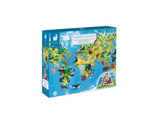 Puzzle educatif- les animaux menaces - 200 pcs