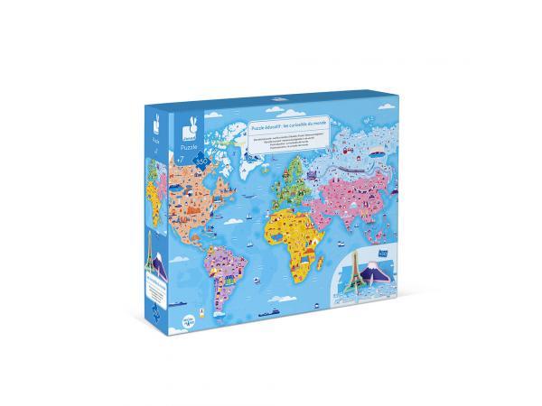Puzzle educatif- les curiosites du monde - 350 pcs