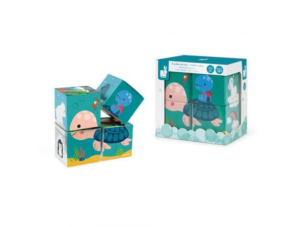 4 cubes de bain