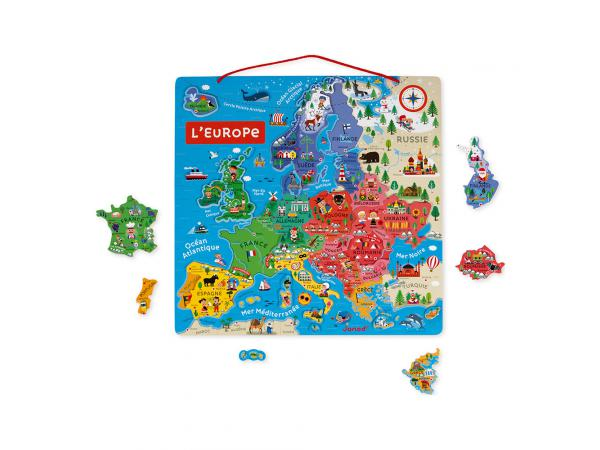 Carte d'europe magnetique