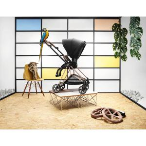Cybex - BU272 - Poussette Cybex Mios - pliage d'une main - Chrome marron, Plus Stardust Black (424566)
