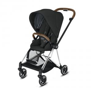 Cybex - BU273 - Poussette Mios compacte - Chrome marron, Deep Black (424568)