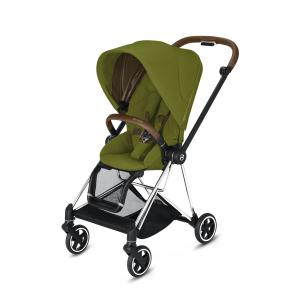 Cybex - BU277 - Poussette Mios face au monde ou face parents - Chrome marron, Mustard Yellow (424576)