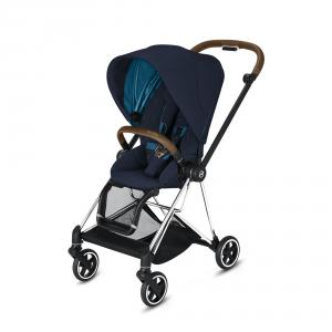 Cybex - BU279 - Mios Poussette inclinaison d'une main - Chrome marron, Nautical Blue (424580)