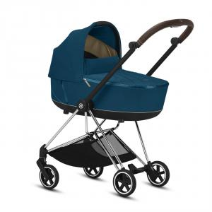 Cybex - BU287 - Poussette Mios Platinum Cybex - Chrome marron, Mountain Blue (424596)