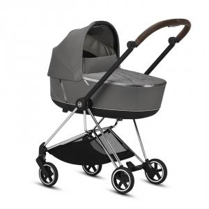 Cybex - BU289 - Poussette Cybex Platinum Mios - Chrome marron, Soho grey (424600)
