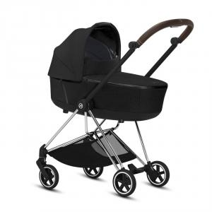 Cybex - BU290 - Poussette Cybex Mios Platinum - Chrome marron,Deep black (424602)