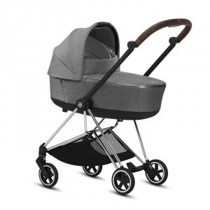 Cybex - BU292 - Poussette Mios Platinum - Chrome marron, Plus Manhattan Grey (424606)