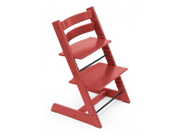 Chaise haute enfant évolutive tripp trapp rouge chaud
