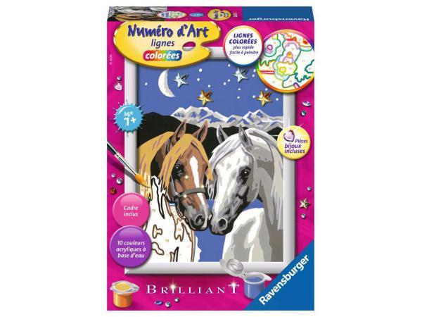 Numéro d'art - petit - chevaux amoureux