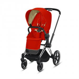 Cybex - BU313 - Pousette Cybex Priam - Chrome noir, autumn gold (426786)