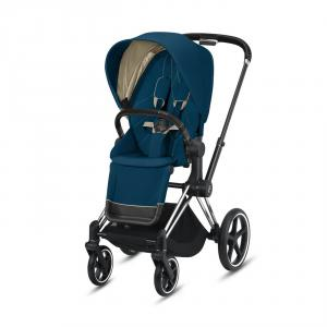 Cybex - BU316 - Cybex Priam poussette - Chrome noir, mountain blue (426792)