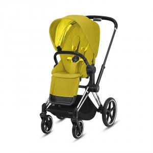 Cybex - BU317 - Priam poussette - Chrome noir, mustard yellow (426794)