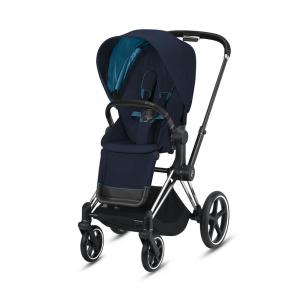 Cybex - BU318 - Priam poussette Cybex - Chrome noir, nautical bleu (426796)