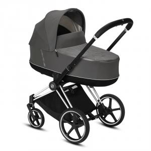 Cybex - BU325 - Poussette pack travel Priam, nacelle et siège auto - Chrome noir, soho grey (426810)