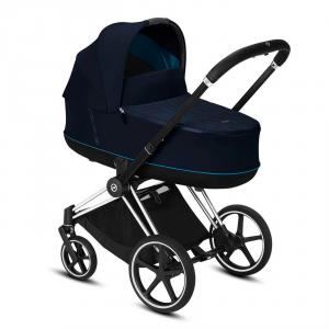 Cybex - BU327 - Poussette Cybex 2en1 avec nacelle confortable - Chrome noir, nautical blue (426814)