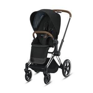 Cybex - BU344 - Poussette conduite douce Priam - Chrome marron, deep black (426848)