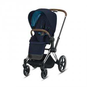 Cybex - BU345 - Poussette Priam compacte - Chrome marron, nautical bleu (426850)