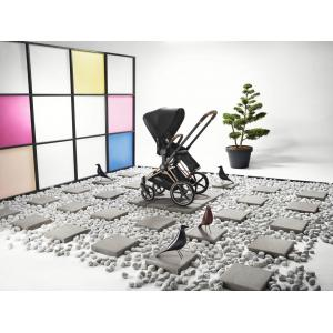 Cybex - BU346 - Poussette Priam compact et pliage très facile - Chrome marron, soho grey (426852)