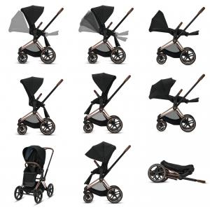 Cybex - BU347 - Poussette Priam - manipulation simple - Chrome marron, autumn gold (426854)