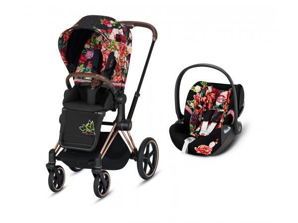 Poussette priam et siège auto editions spéciales spring blossom noir