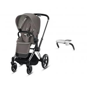 Cybex - BU358 - Poussette Priam avec sa plateau - Chrome marron, soho grey (426876)