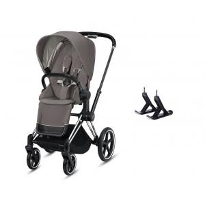 Cybex - BU360 - Poussette Priam avec skis Priam- Chrome marron, soho grey (426878)