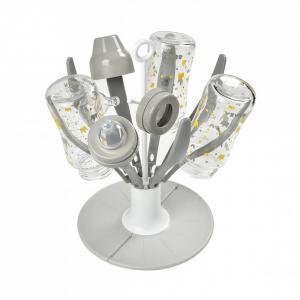 Beaba - 911670 - Egoutte Biberon pliable Flower grey (427902)